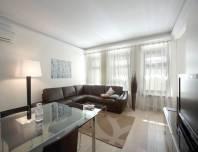 гостиная, квартира в аренду на Конногвардейском бульваре 13